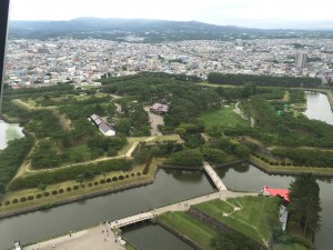 This weekend I visited Goryokaku in Hokkaido. I saw this star shaped fortress and felt some very cool July weather. ~ Youssef Tobah