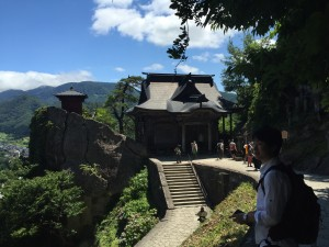 I also went to Yamadera and saw some very nice views and temples from on top a mountain. ~ Youssef Tobah