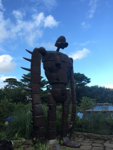 Castle in the Sky, Robot Statue: On the roof stood this statue of the robot from Castle in the Sky, and visiting the solemn statue felt like the best way to end the trip to such a fantastic place. ~ Youssef Tobah