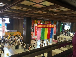 Tanabata Decorations: Haihao and I were in a bit of a rush to catch the train to Fuji-san, so we did not get to see many of the decorations around Sendai, but we did get to see this at the station.