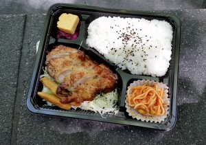 O-Bento: Every day for lunch I purchase some sort of premade lunch from a convenient store. Unlike American convenience store food, this food doesn't seem terribly unhealthy. Very many people buy these for lunch, and they taste great! Not only is there a large variety of these bento boxes at the convenience stores, the cashiers will even heat them up for you! - Nickolas Walling