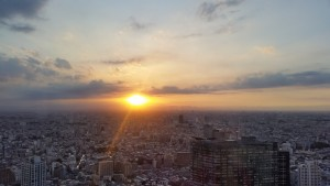 Tokyo Metropolitan Government Building 45F: On Wednesday a few of us went to the Tokyo Metropolitan Government Building and watched the sun set. It was a gorgeous view and another reminder of how huge Tokyo is. Plus the sunset was nothing to sneeze at. - Nickolas Walling