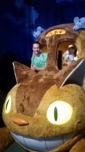 Soft Kitty, Warm Kitty Little Bus of Fur: I went to a Studio Ghibli exhibition with Sarah-san, and I got to sit in the neko-basu (cat bus) from the movie My Neighbor Totoro! ~ Nickolas Walling