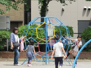 Buckyball Spotted in Tokyo: Haihao joked about the playground resembling a buckyball. It made me realize how much I'm going to miss the other fellows (and their nerdy jokes) when I'm doing my internship.