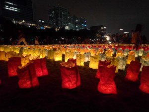 Lanterns in Odaiba: There was a beautiful lantern display in Odaiba for 海の日 ~ Sasha Yamada