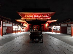 Asakusa at Night: Much more peaceful without the normal crowds. ~ Sasha Yamada