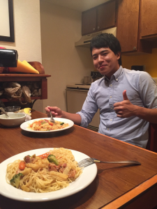 Homemade pasta with my roommate. ~ Nobuyoshi Hiramatsu