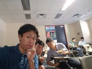 Lunchtime with other Japanese fellows at the SCI Colloquium at Rice University. ~ Takuya Kurihana