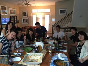 Japanese food party at Shimuzu-sensei's house. Great skill of her cooking!! ~ Takuya Kurihana