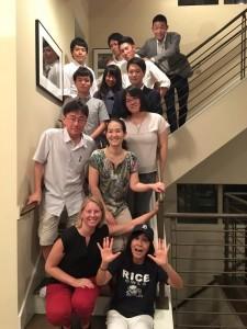 Group photo at the Shimizu-sensei's house. ~ Hiromi Miwa