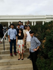 Group photo at the White House. ~ Hiromi Miwa
