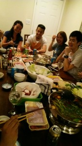 My send-off party in Japan. Eating hot pot. ~ Soya Miyoshi