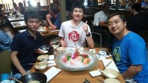 Lunch with Prof. Lin Zhong and Ruogu ~ Soya Miyoshi