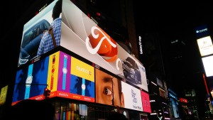 At Times Square. New York is a city that doesn't sleep. ~ Soya Miyoshi