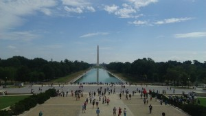National Mall. Behind is the statue of Lincoln. ~ Soya Miyoshi