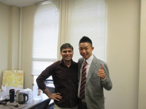 First meeting with my mentor: He is very kind, friendly, and good at joking, which always make me happy. ~ Toshihiro Takada