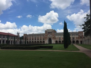 Beautiful campus of Rice University. It always gives me motivation. ~ Tatsuya Tanaka