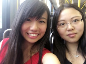 Me and Rounan --- She is an exchange student from Beijing University. We went shopping together this Sunday. ~ Yunong Wang