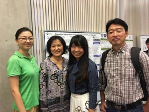In front of my poster Pei Dong (Ajayan's group), Dr.Li Qilin, Jun Kim. ~ Yunong Wang