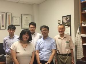 Tatsuya Tanaka and I with Prof. Tayfun Tezduyar (right), Kenji Ogawa of the Nakatani Foundation, and Prof. Kenji Takizawa of Waseda University. ~ Ayaka Yoshida