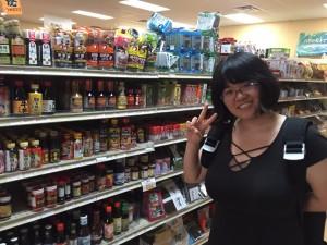 Japanese store in Houston. There are all kinds of Japanese seasonings. ~ Ayaka Yoshida