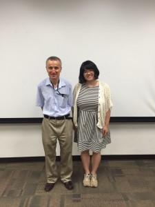 With Prof. Tezduyar ~ Ayaka Yoshida