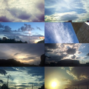 I love the sky in Houston. The clouds are beautiful. ~ Ayaka Yoshida