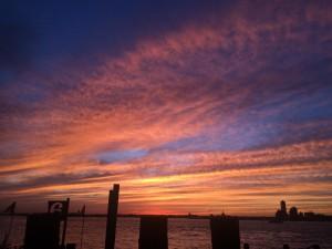 Sunset in Battery Park, New York City ~ Ayaka Yoshida