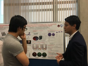 Tatsuya Tanaka (2016 NK RIES) presenting on his research in the Tezduyar Lab at Rice University.