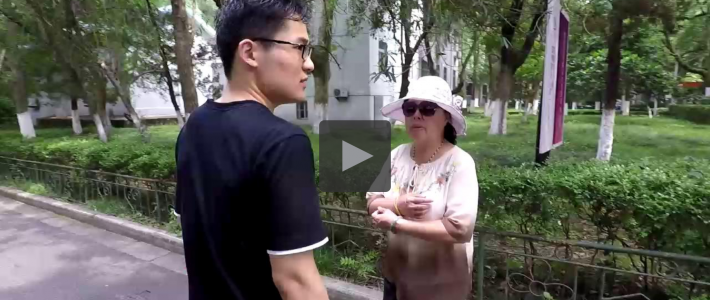 Asking for direction in Nanjing University