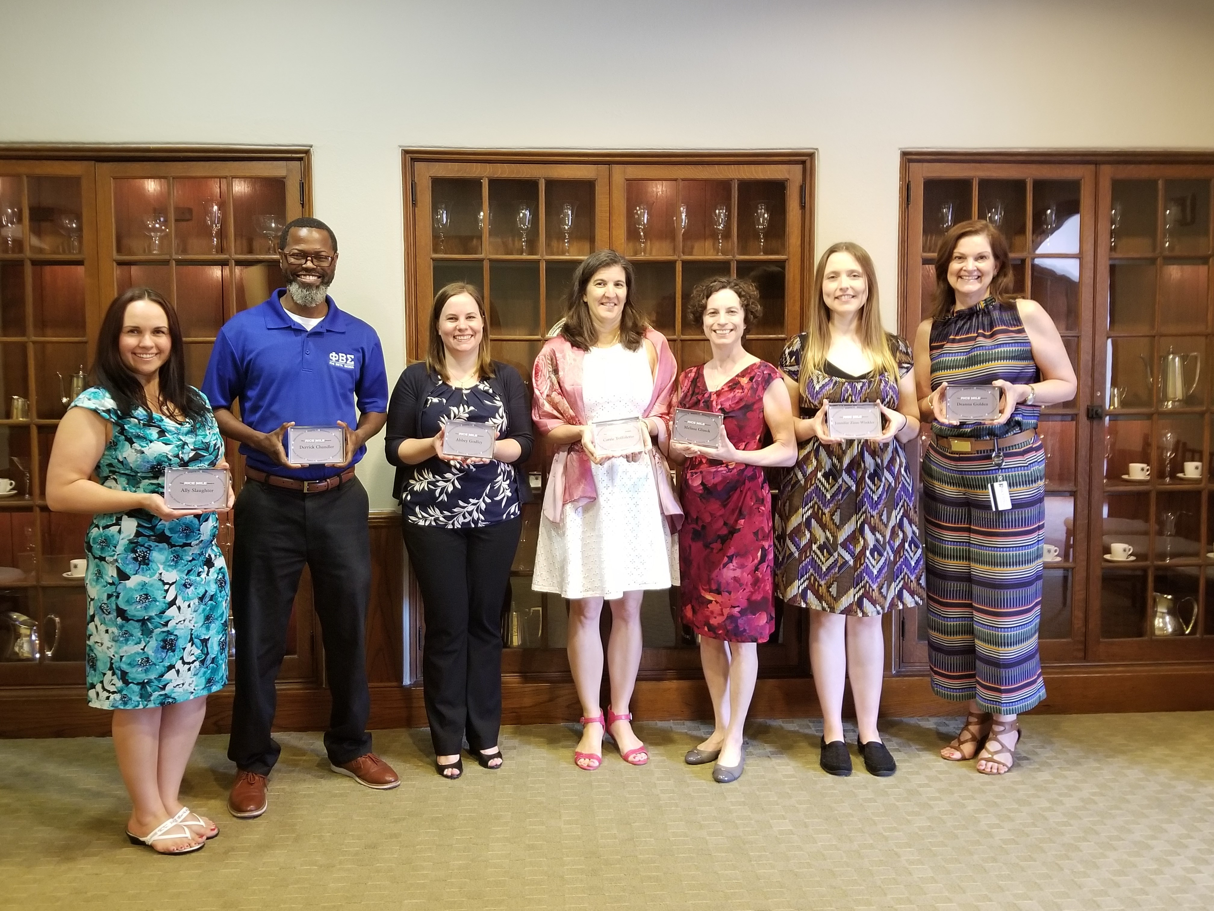 The first RICE MILE awarded to the Developing World Class Staff Project Team on April 4, 2018