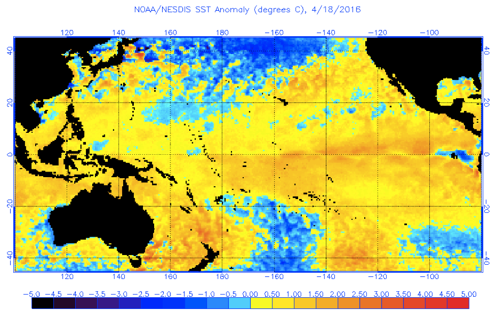 SST anomaly apr 18 2016