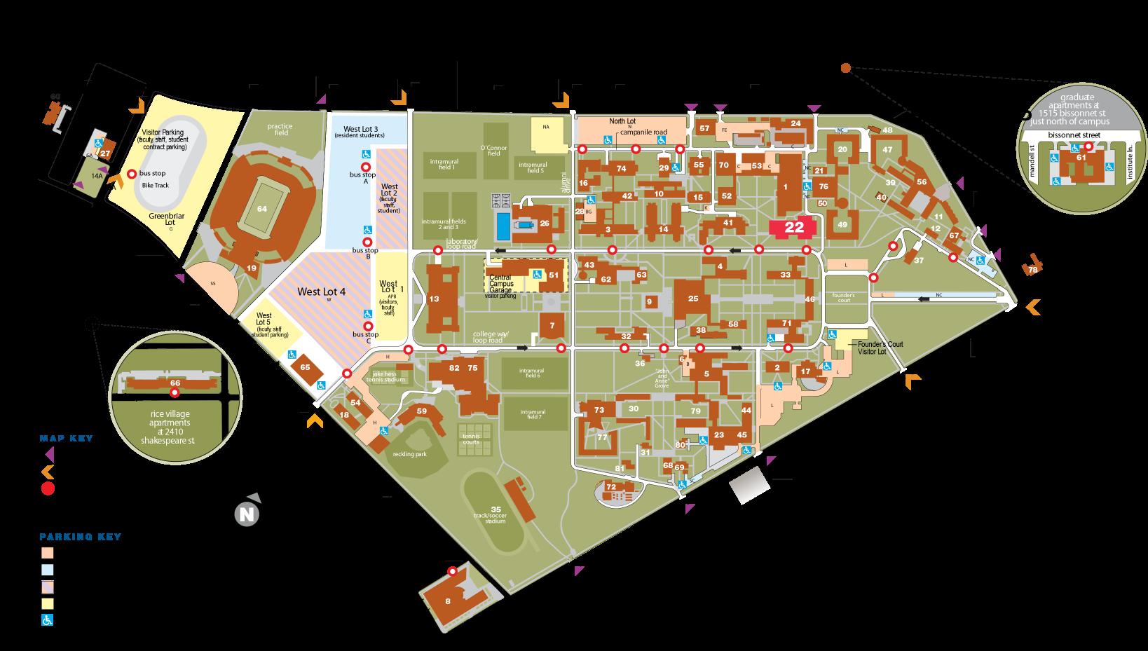 Rice University Map