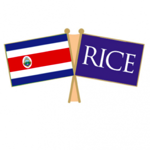Costa Rica and Rice flags together