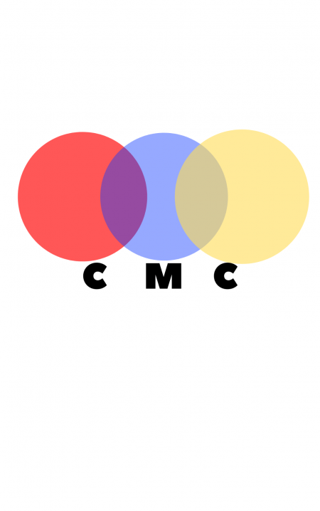 """Chroma Music Chicago's logo, featuring three colored circles and the abbreviation """"CMC"""""""
