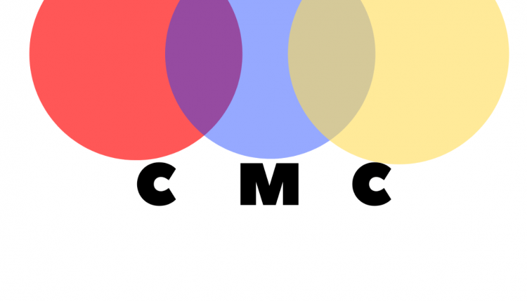 "Chroma Music Chicago's logo, featuring three colored circles and the abbreviation ""CMC"""