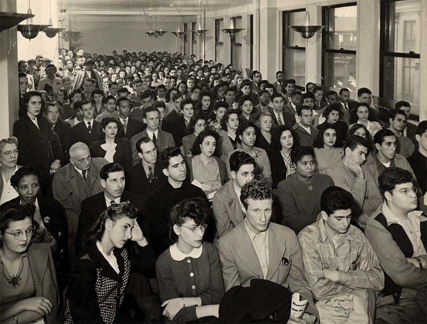 The first student assembly at Roosevelt College