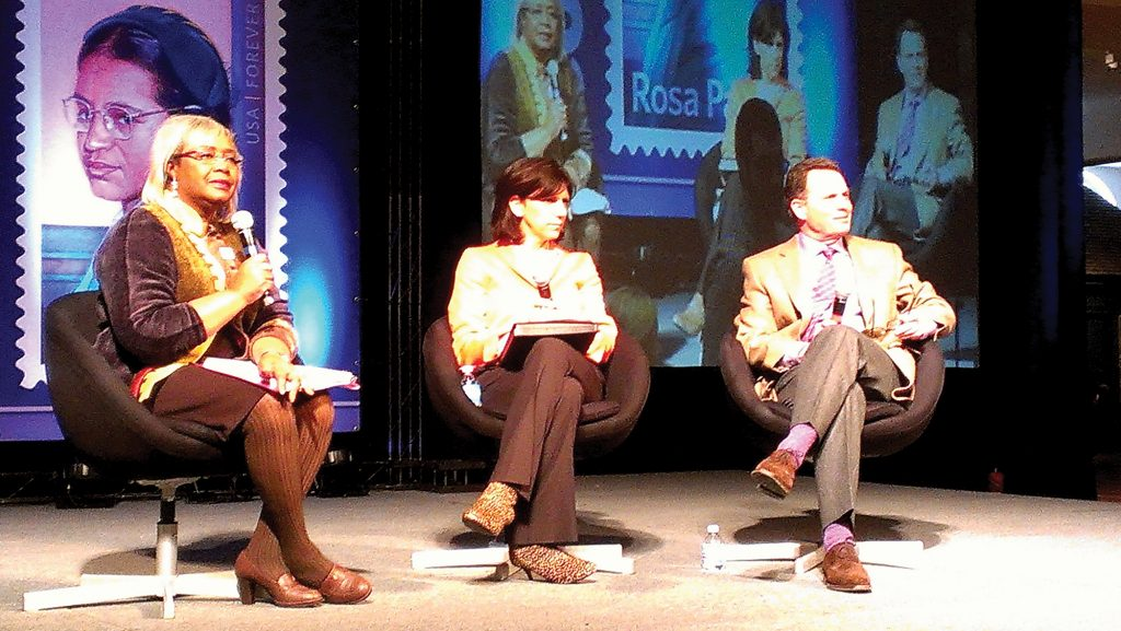 Darlene Clark Hine moderating a panel
