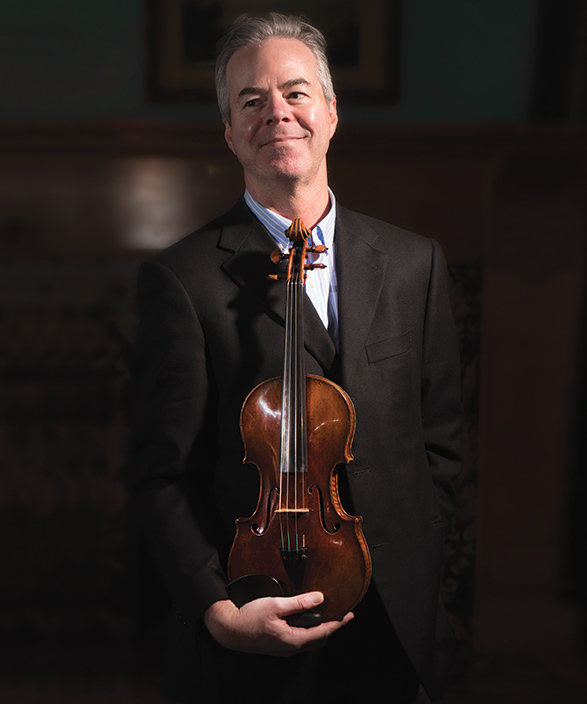 Frank Almond and the 300-year-old Lipiński Stradivarius.
