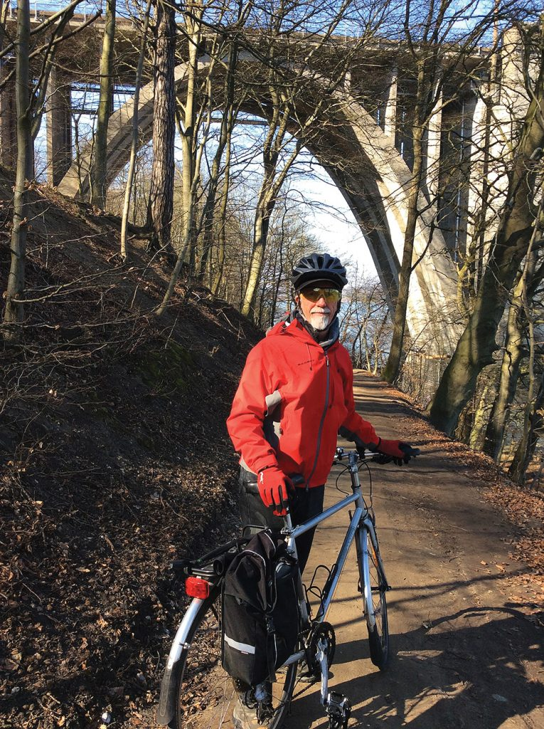 Larry Howe touring on one of nearly 2,000 bike trails in Denmark. Photos by Judy Frei