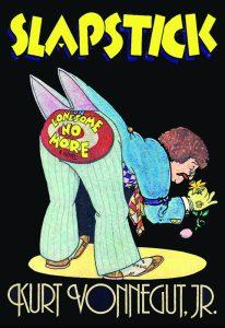 """Schick's cover design for Kurt Vonnegut, Jr.'s 1976 novel, """"Slapslick."""""""