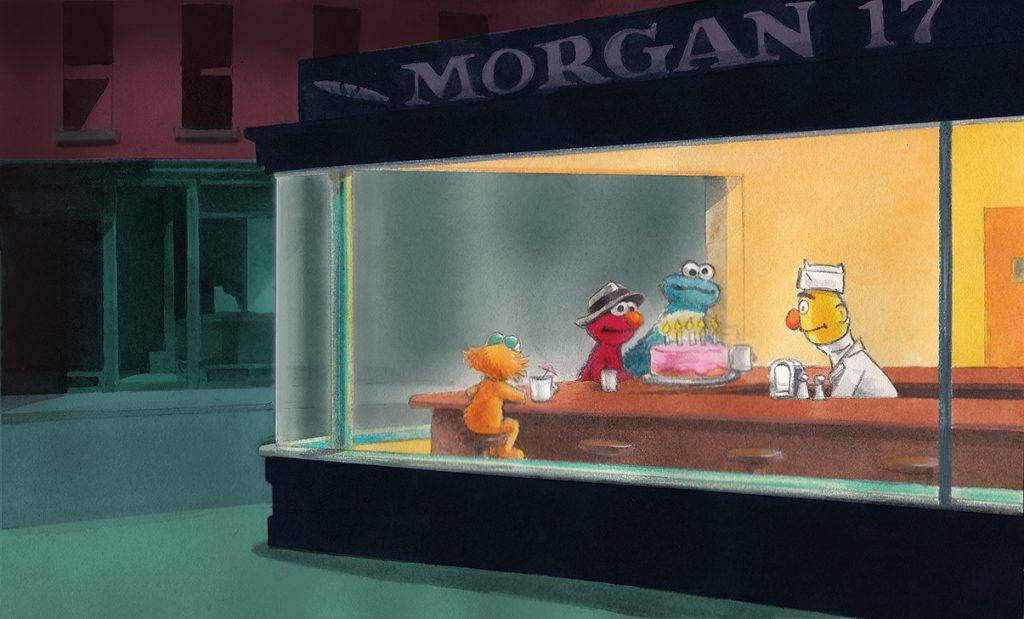 Edward Hopper: Nighthawks on Sesame Street