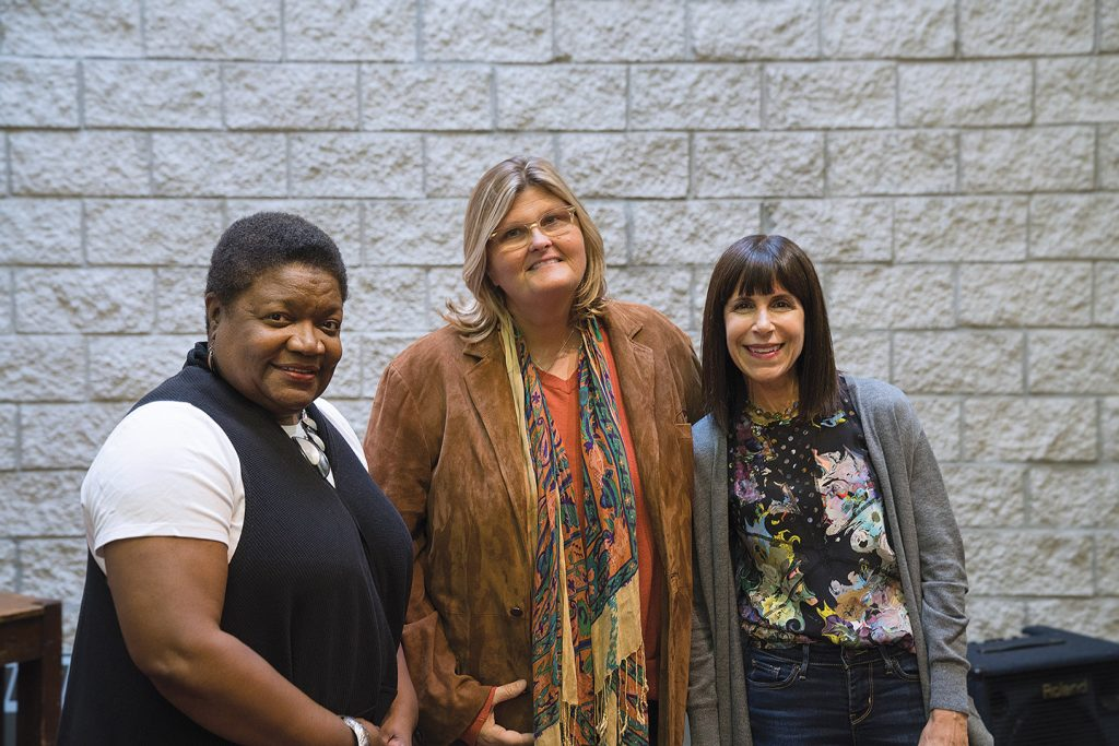 Restorative justice court planners include Cook County Circuit Court Administrator Michelle Day, Judge Colleen Sheehan and Roosevelt's Nancy Michaels.