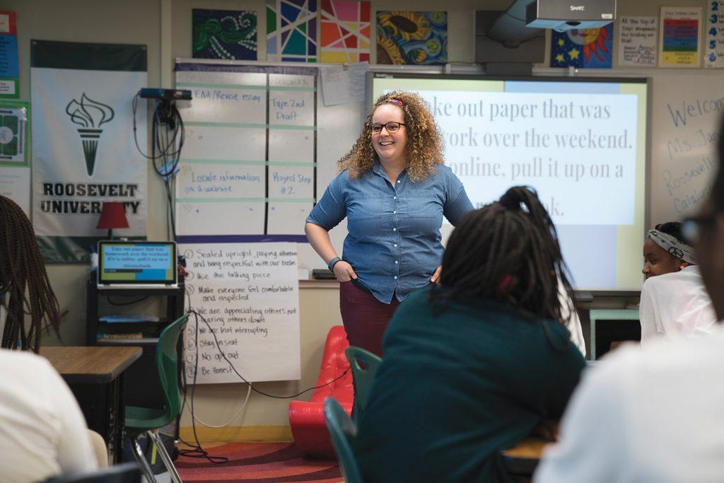Roosevelt alumna Emily Wilkie (BA, '13).
