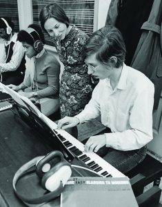 Photo from archive featuring piano player