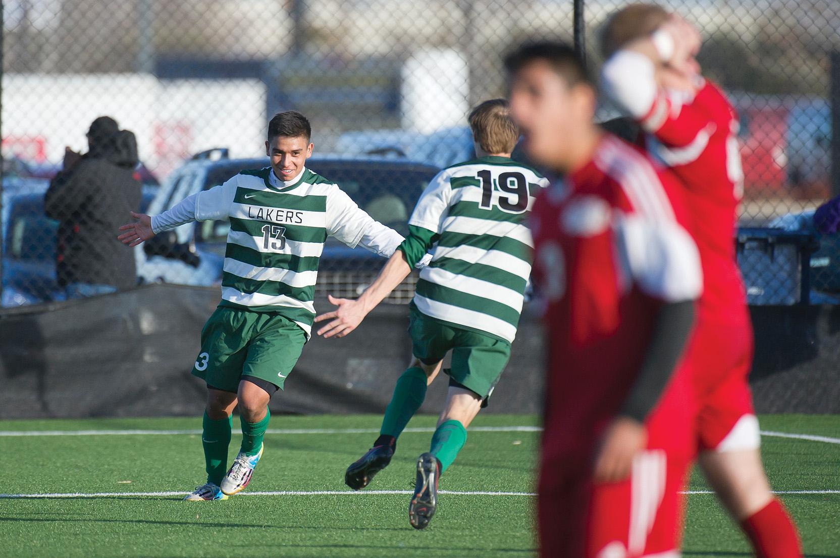 Jose Garcia on the soccer field
