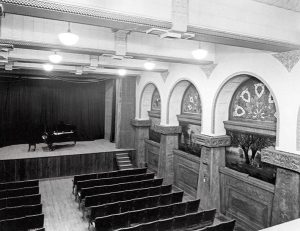Black & White Photo of Ganz Hall