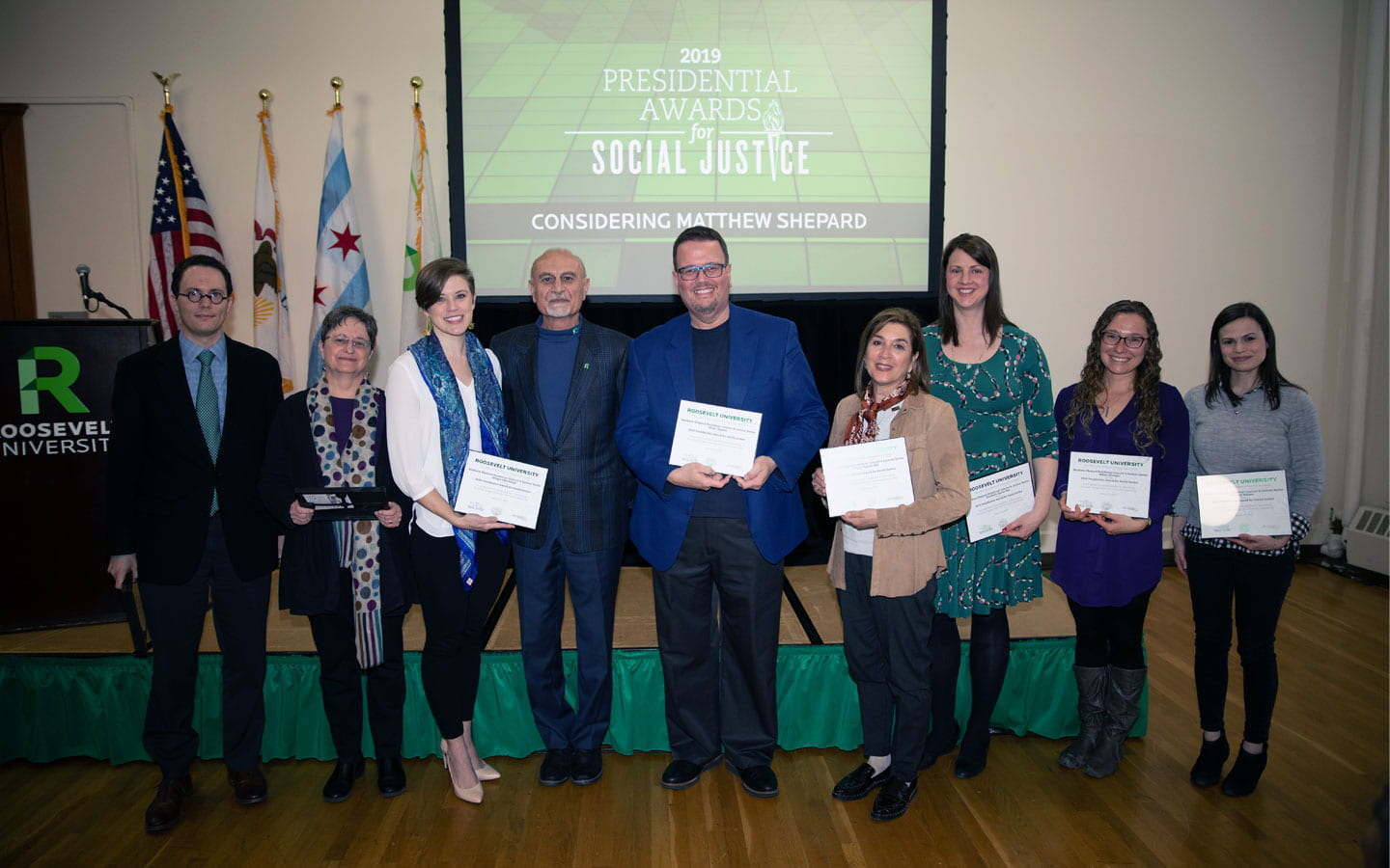 CCPA faculty and staff won awards for their work on The Considering Matthew Shepard Residency.