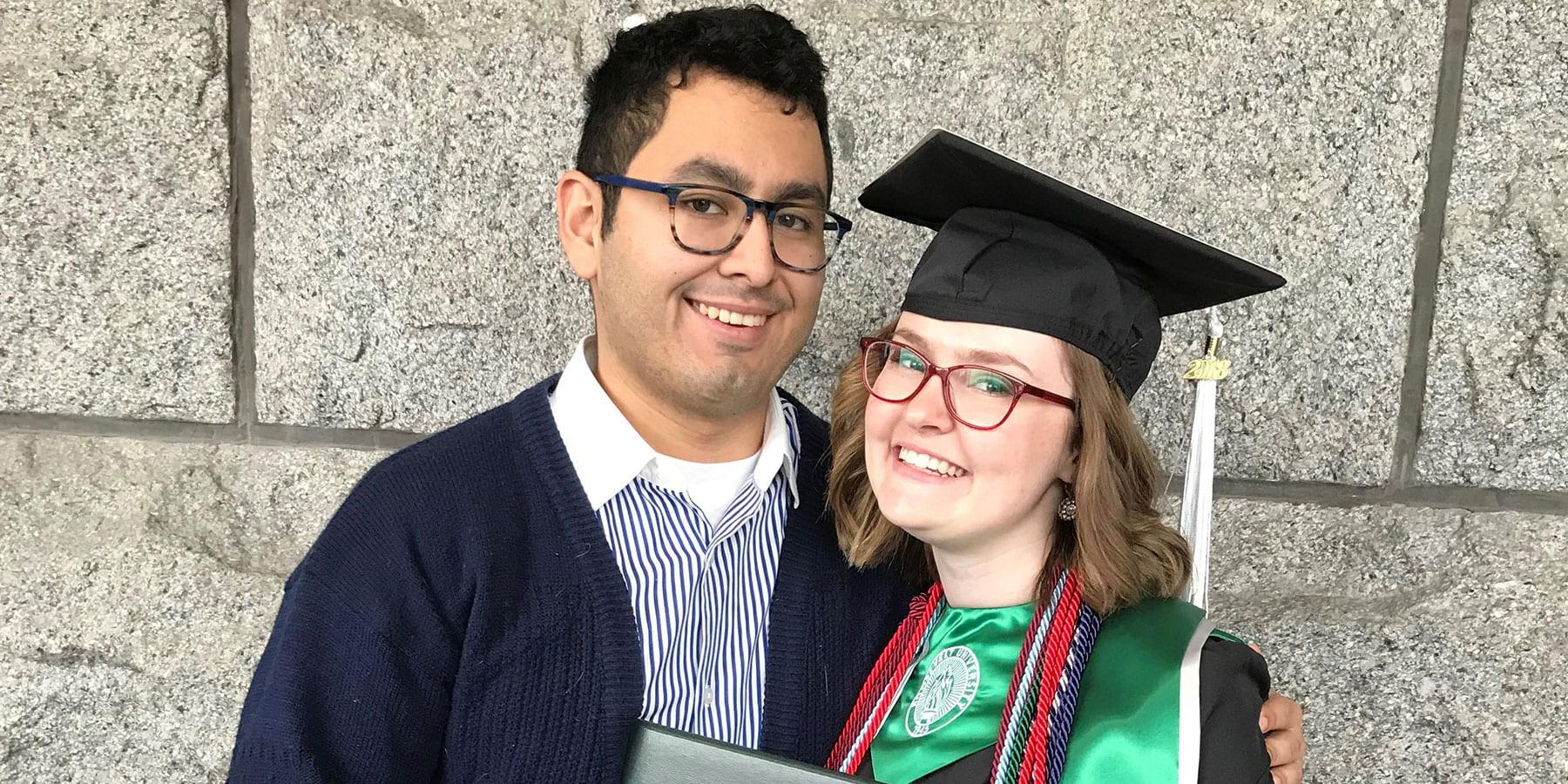 McNair scholars Adrian Flores and Baylee Allen