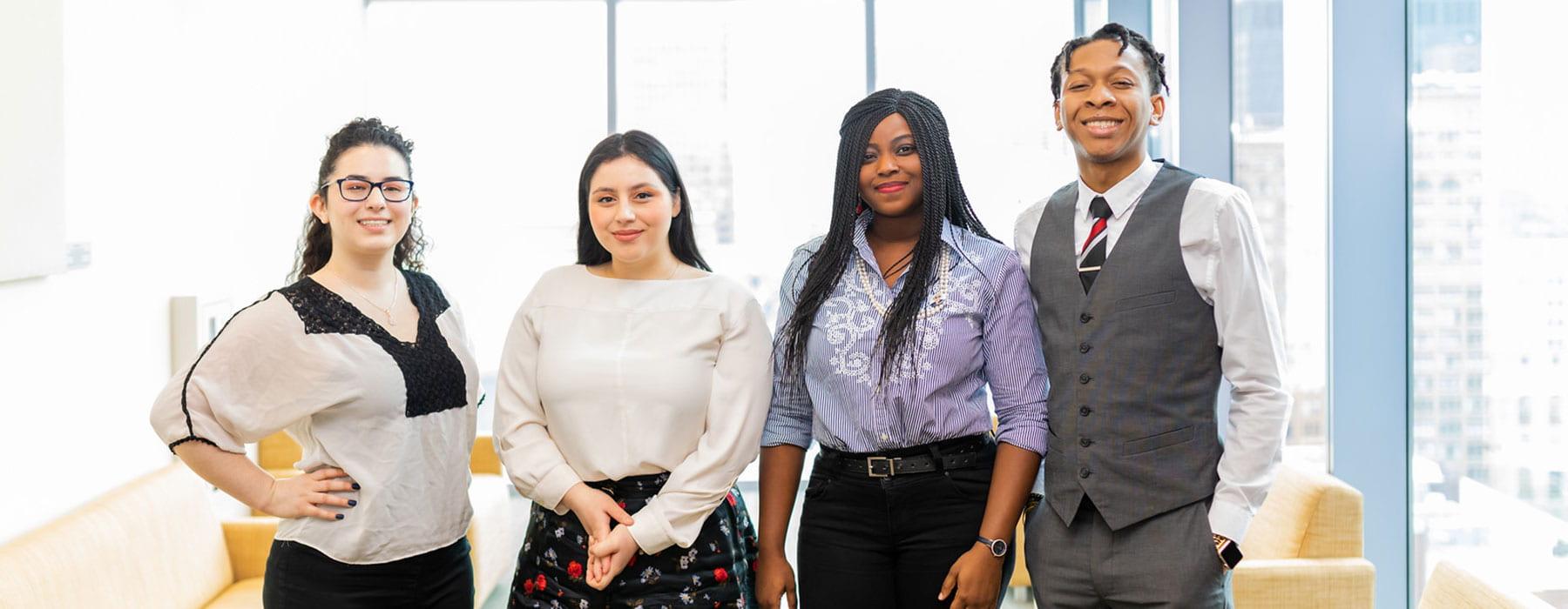 Golin Fellows Karina Herrera, Alondra Ibarra, Abisola Ajayi and Darryl Langston Jr.